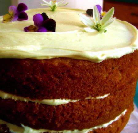Banana-Caramel Cake. Photo by Andi of Longmeadow Farm