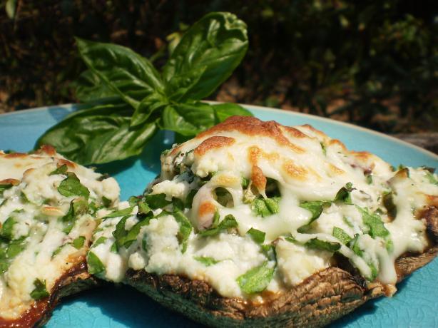 Cheese and Spinach Stuffed Portobellos. Photo by breezermom