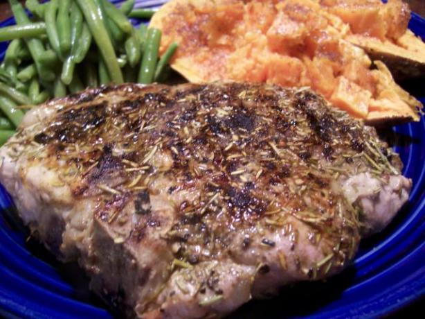 Simple Rosemary Rubbed Pork Chops. Photo by Crafty Lady 13