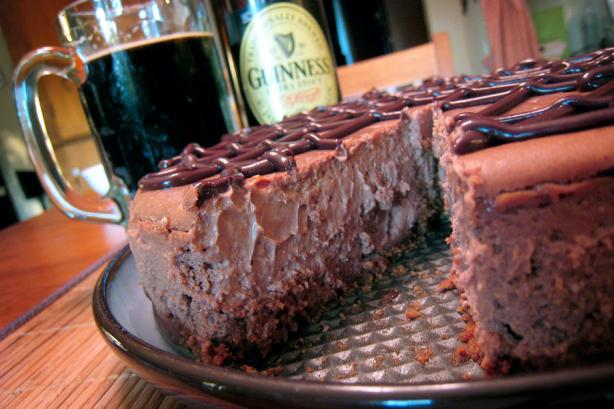 Chocolate-Guinness Cheesecake. Photo by yogiclarebear