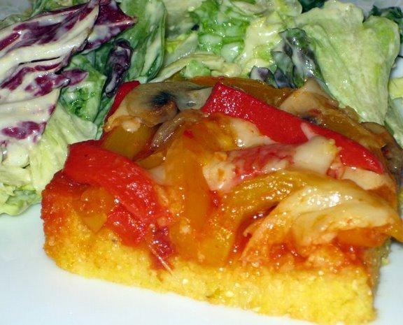 Vegetable Polenta Lasagna. Photo by FrVanilla