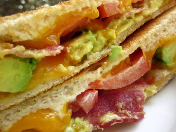 Grilled Cheddar, Bacon, And Avocado Sandwiches Recipe - Cheese.Food ...