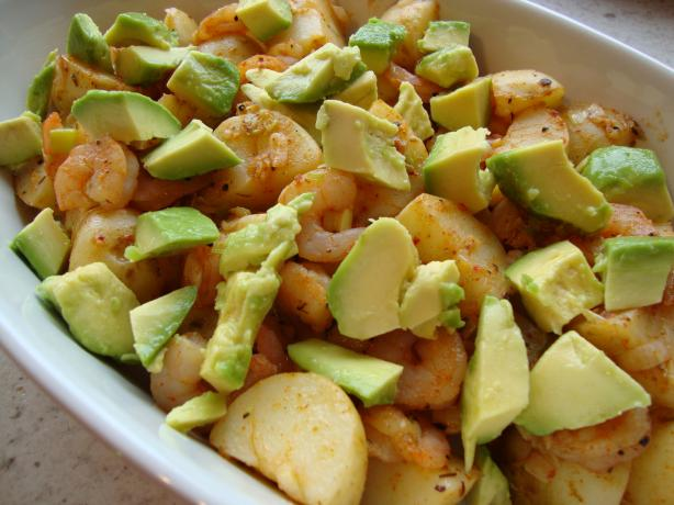 Cajun Potato, Prawn/Shrimp and Avocado Salad. Photo by JoyfulCook
