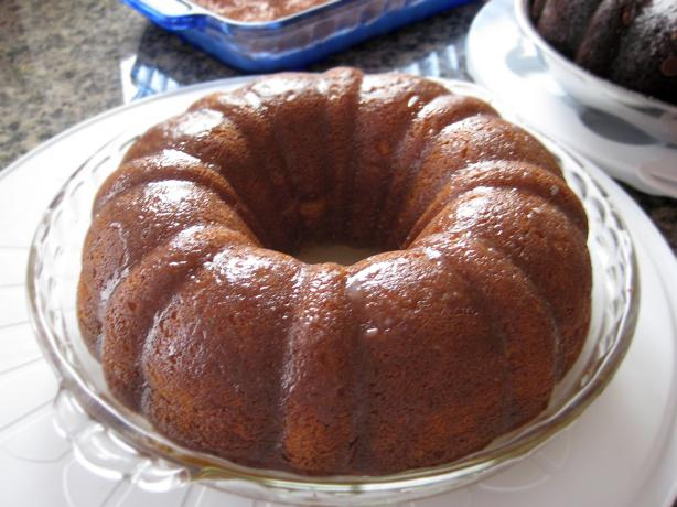 Golden Bacardi Rum Cake. Photo by wallbounce