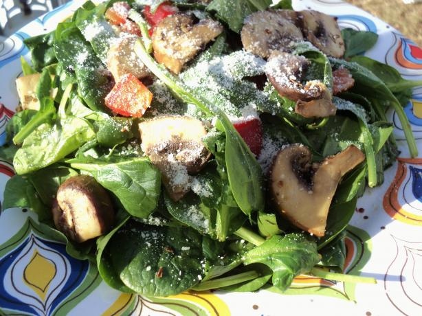 Warm Mushroom And Wilted Spinach Salad Recipe - Food.com