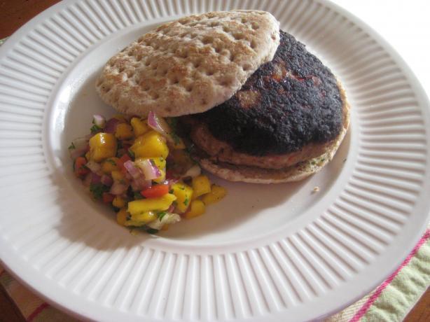 Jamaican Jerk Turkey Burgers With Papaya-Mango Salsa. Photo by magpie ...