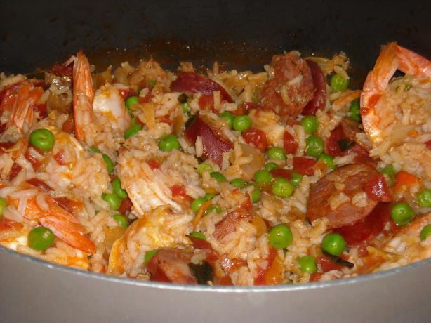 Another Quick Shrimp and Chorizo Paella. Photo by taraluvsspicy82