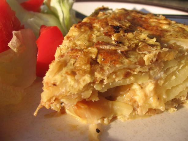 Tortilla Espanola (Traditional Spanish Potato Omelete).. Photo by ...