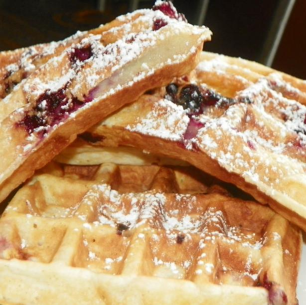 Sour Cream Blackberry Waffles. Photo by Baby Kato
