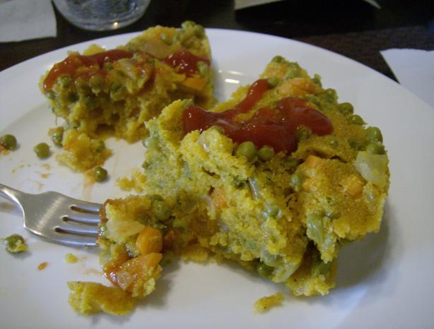 No Crust Cornmeal/Polenta Vegetable Pie. Photo by Elise and family