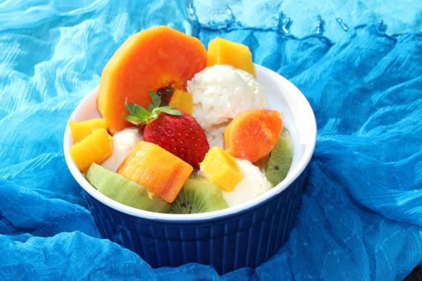 Coconut Ice Cream With Tropical Fruits Recipe - Australian.Food.com