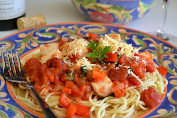 Angel Hair Pasta With Tomato-Scallop Sauce. Photo by Marg ...