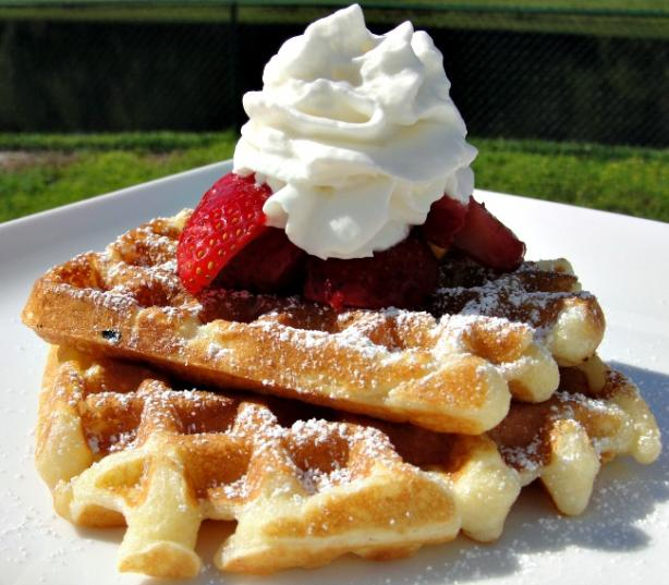 Breakfast on the Deck Sour Cream Waffles. Photo by diner524