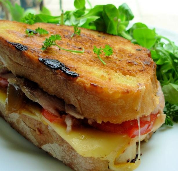 Grilled Roasted Turkey & Provolone Sandwich. Photo by French Tart