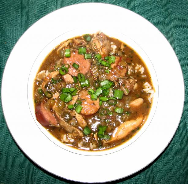 Cajun chicken and sausage gumbo recipe for Authentic new orleans cuisine