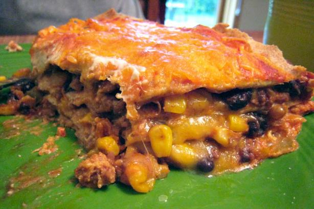 Stacked Burrito Pie Recipe - Mexican.Food.com