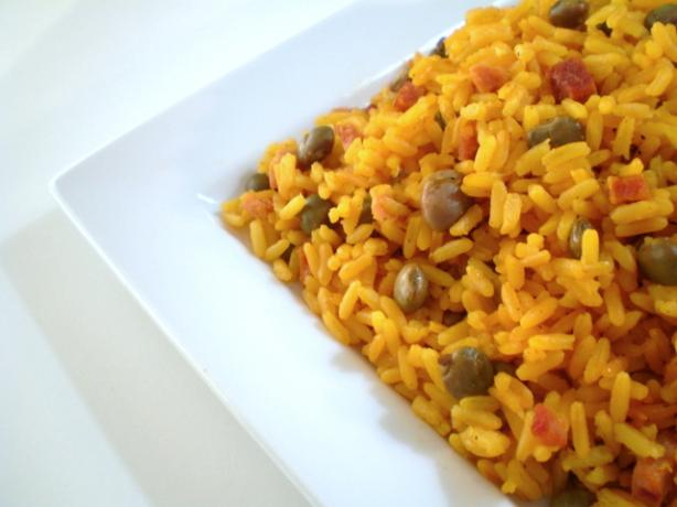 Rice With Pigeon Peas - Arroz Con Gandules. Photo by TasteTester