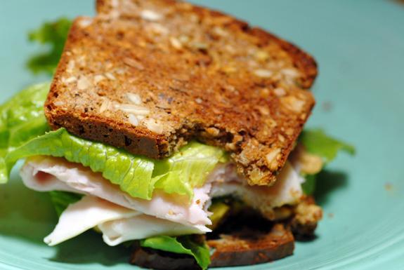 Gluten Free Turkey Club Sandwich. Photo by Elana's Pantry