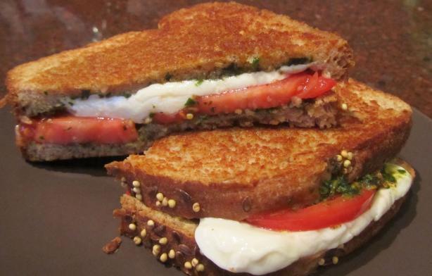 Tomato, Mozzarella And Pesto Panini Recipe - Food.com