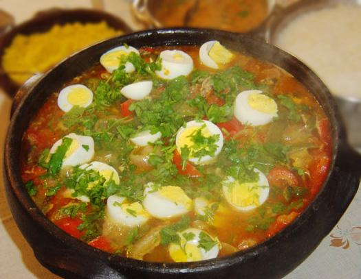 Bahian Brasilian Fish Stew, Decorated With Boiled Eggs (Moqueca. Photo ...