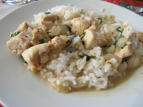 Thai Chicken With Basil and Coconut Milk. Photo by mtbikeTX