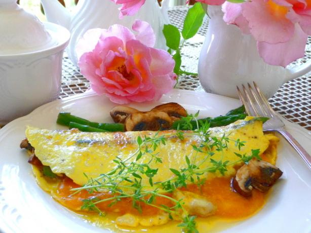 Asparagus, Mushroom And Cheese Omelet With Herbs Recipe - Food.com