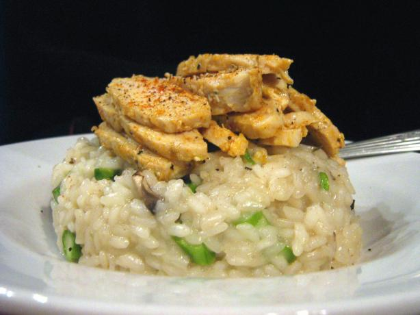 Mushroom Asparagus Risotto With Crisped Chicken. Photo by ~Leslie~