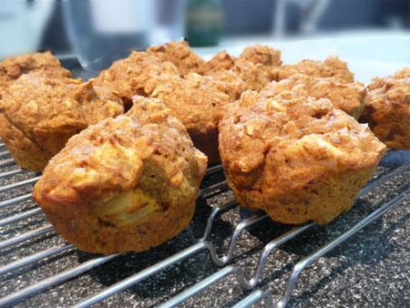 Pumpkin Apple Oat Muffins. Photo by Mikekey