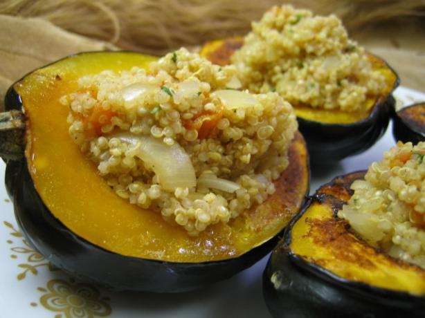 Quinoa-Stuffed Acorn Squash. Photo by brokenburner
