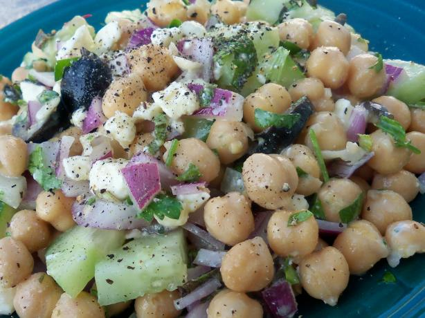 Greek-Style Chickpea Salad. Photo by *Parsley*