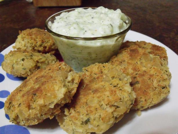 Chickpea Fritters With Tzatziki Sauce Recipe - Greek.Food.com