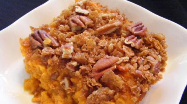 Best Ever Sweet Potato Casserole With Pecan Topping. Photo by kchavana