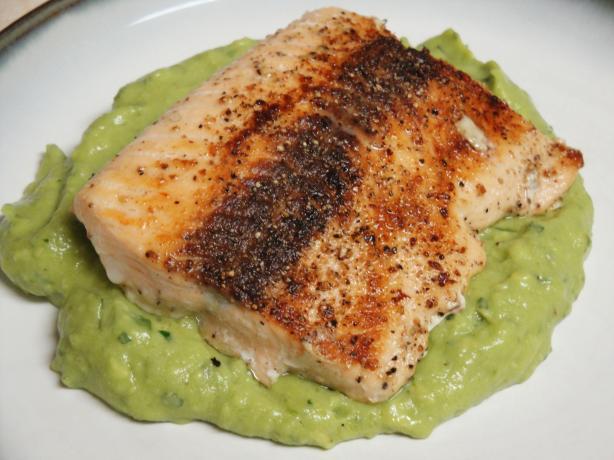 Pan-Seared Salmon With Avocado Remoulade Recipe - Food.com