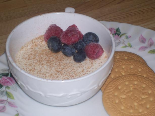 Buttermilk Pudding With Fresh Fruit. Photo by luvcook'n