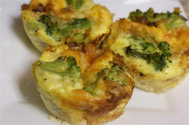Broccoli and Cheese Mini Quiche. Photo by chefymomma