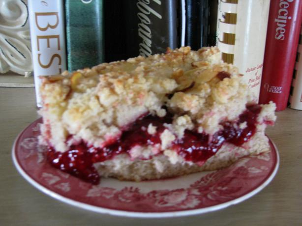 Raspberry Crumb Cake. Photo by out of here