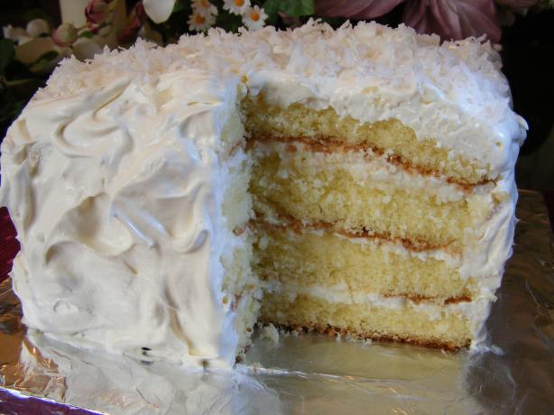 Coconut Sour Cream Cake. Photo by Seasoned Cook