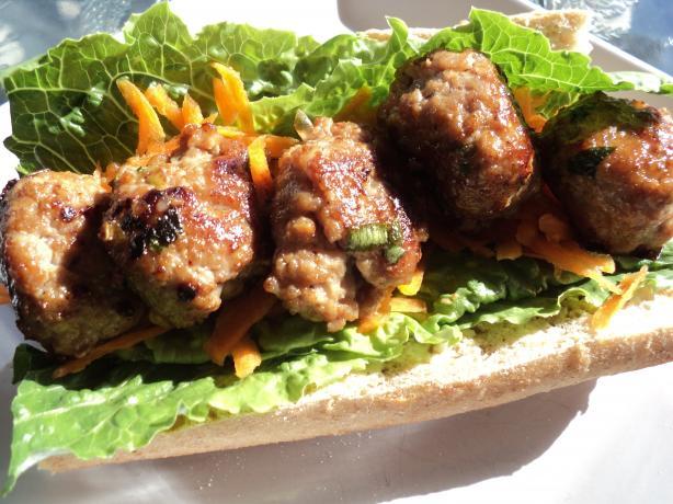Pork Meatball Banh Mi Recipe - Food.com