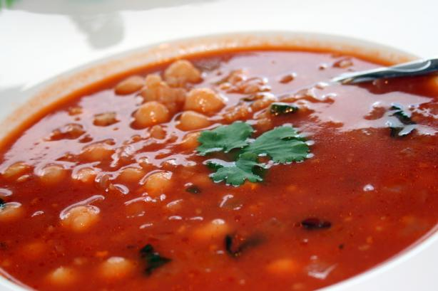 Egyptian Chickpea and Tomato Soup. Photo by **Tinkerbell**