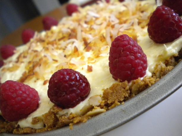 Coconut Raspberry Cream Pie. Photo by Diet It Up