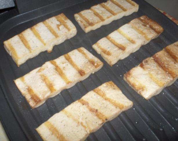 Easy-As-1-2-3 Versatile Grilled Tofu Chunks or Sandwich Slices. Photo ...