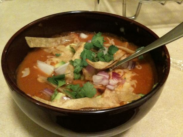 Vegetarian Tortilla Soup. Photo by Renee D
