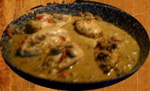 Chicken With Mushroom Curry Sauce. Photo by English Sunset