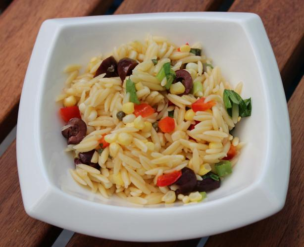 Mediterranean-Style Orzo Salad With Corn. Photo by Boomette