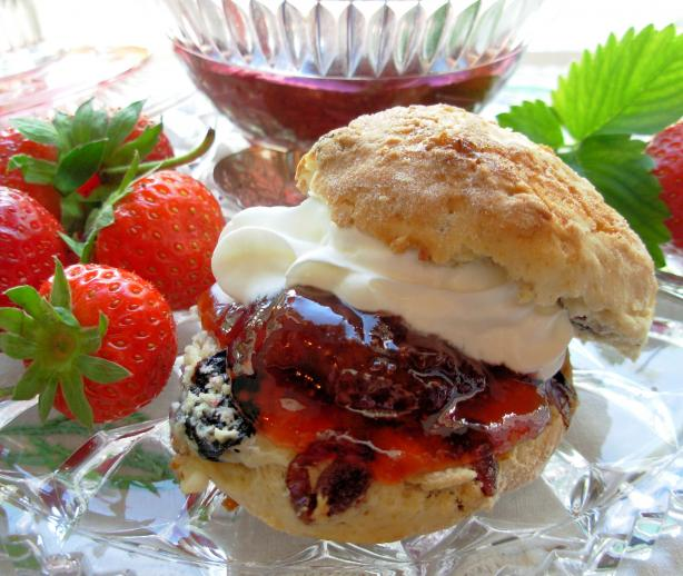 ... Scones With Mixed Summer Berries and Cream. Photo by French Tart