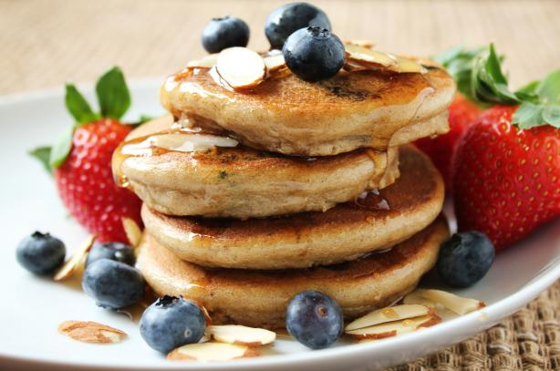 Silver Dollar Pancakes (Gluten Free). Photo by Delicious as it Looks