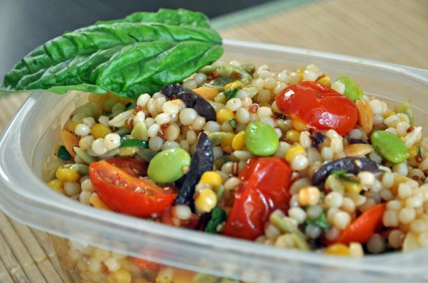 Israeli Couscous Salad With Roasted Cherry Tomatoes. Photo by Cookin ...