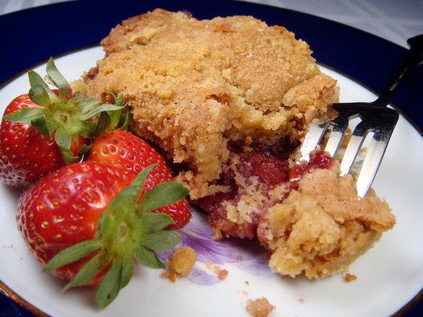 Strawberry Sour Cream Coffee Cake. Photo by Lori Mama