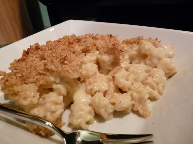 Auntie's Awesome Baked Mac N' Cheese (Light). Photo by Adrienne Elise