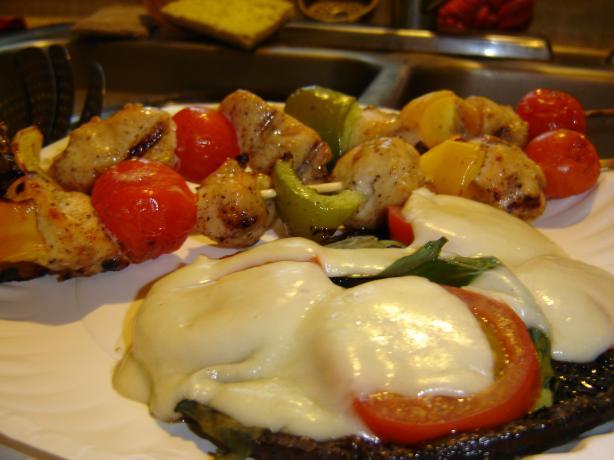 Caprese Portabella Mushrooms easy fast recipe